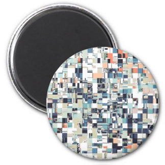Abstract Jumbled Mosaic 2 Inch Round Magnet