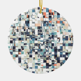 Abstract Jumbled Mosaic Ceramic Ornament