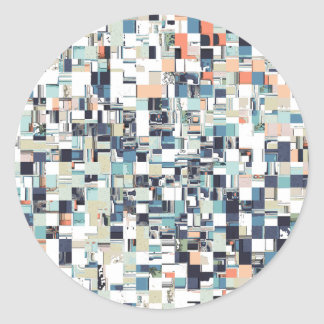 Abstract Jumbled Mosaic Classic Round Sticker
