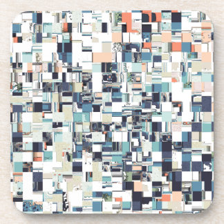 Abstract Jumbled Mosaic Coaster