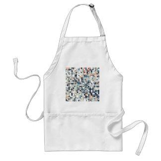 Abstract Jumbled Mosaic Standard Apron