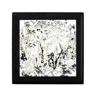 abstract jungle gift box