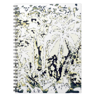 abstract jungle notebook