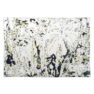 abstract jungle placemat