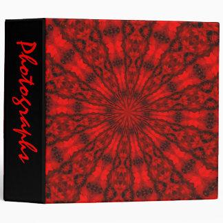 """Abstract Kaleidoscope 2"""" Photo Album 3 Ring Binders"""