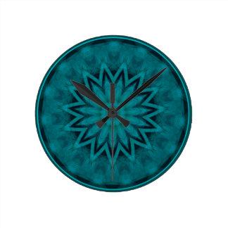 abstract kaleidoscope background clock