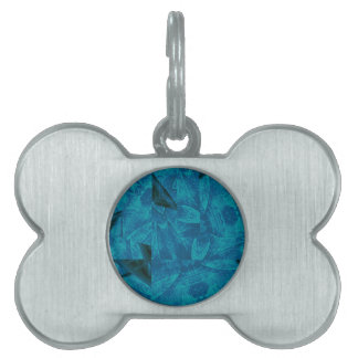 abstract kaleidoscope background pet name tag