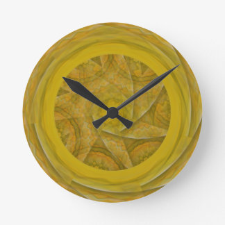 abstract kaleidoscope background wall clock