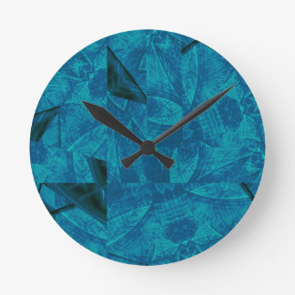 abstract kaleidoscope background wall clocks
