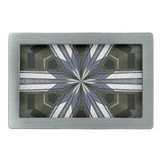 abstract kaleidoscope belt buckle