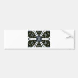 abstract kaleidoscope bumper sticker