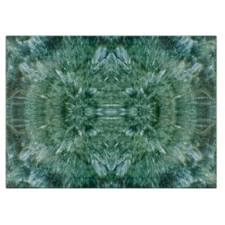 Abstract Kaleidoscope Green Mineral Crystal Cutting Board