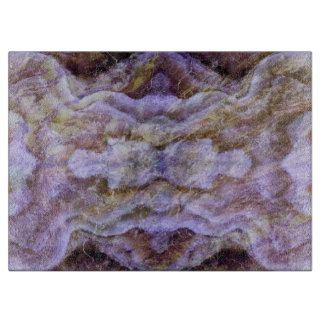 Abstract Kaleidoscope Mineral Amethyst Cutting Board