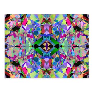 Abstract Kaleidoscope Pattern Postcard