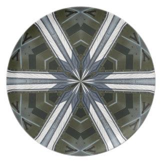 abstract kaleidoscope plate
