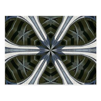 abstract kaleidoscope postcard