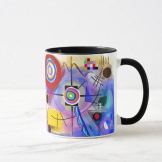 Abstract Kandinsky inspired mug