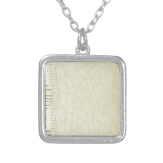Abstract Keyboard Silver Plated Necklace
