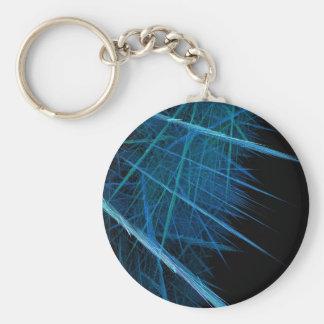 Abstract Keychain Basic Round Button Keychain