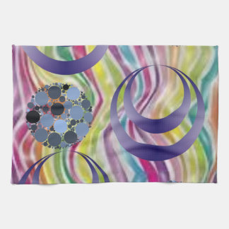 abstract kitchen hand towel