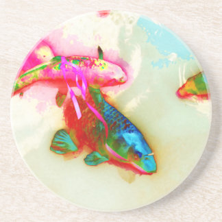 Abstract Koi Coaster