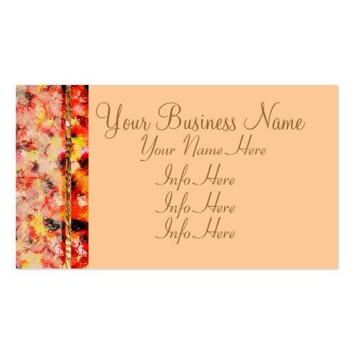 Abstract Lace Roses Business Card Templates