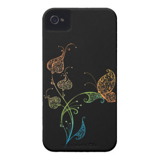 Abstract Lacey Butterfly and Floral iPhone 4 Covers
