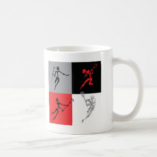 Abstract Lacrosse Basic White Mug
