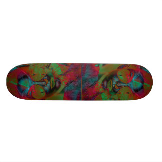 Abstract Lady Skateboard
