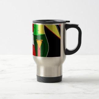 Abstract lady travel mug