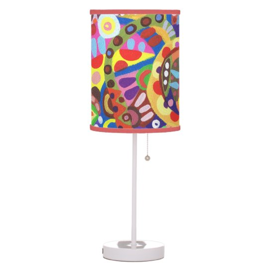 Abstract Lamp - Groovy Colourful Lampshade