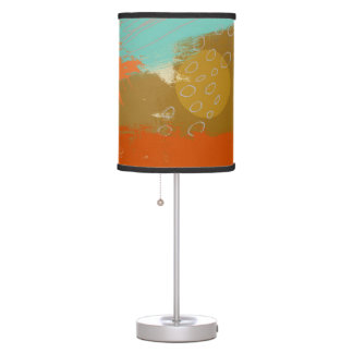Abstract Landscape Art Paint Circles Spheres Table Lamp