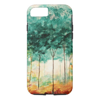 Abstract Landscape Art Trees Forest Painting iPhone 7 Case