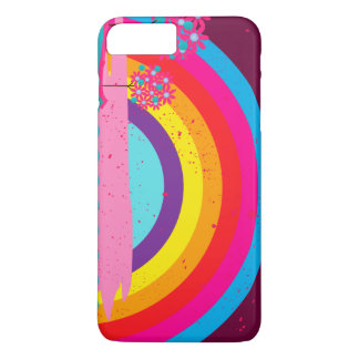 Abstract Landscape Cartoon rainbows iPhone 7 Plus Case