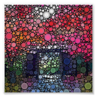Abstract Landscape Circles Bubbles Modern Art Photo