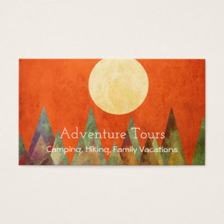 Abstract Landscape Full Moon Mountains Sky Travel Business Card