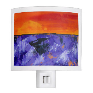 Abstract Landscape Lavender Night Light