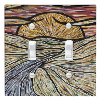 Abstract Landscape Light Switch Cover