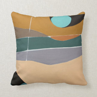 Abstract Landscape Painting Pillow