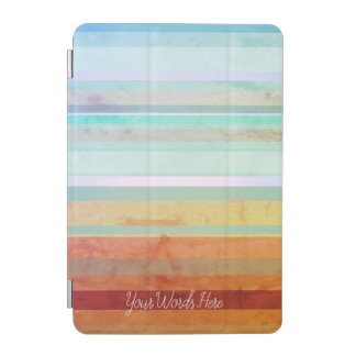 Abstract Landscape Stripes & Your Words iPad Mini Cover