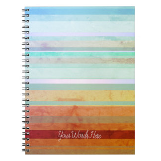 Abstract Landscape Stripes & Your Words Notebook