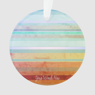 Abstract Landscape Stripes & Your Words Ornament