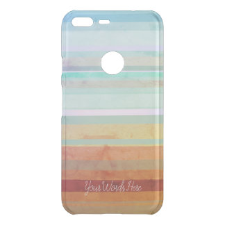 Abstract Landscape Stripes & Your Words Uncommon Google Pixel XL Case