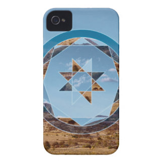 Abstract landscape with geometrical shapes Case-Mate iPhone 4 case