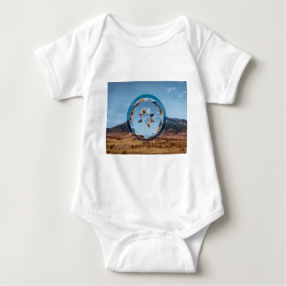 Abstract landscape with geometrical shapes tshirts