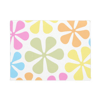 Abstract Large Flowers Bright Color Mix Doormat