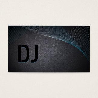 Abstract Laser Light Coal Black DJ Business Card