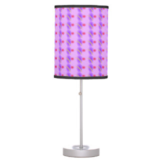Abstract Lavender Desk Lamp