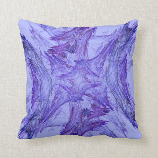 Abstract Lavender Purple Snowflake Fractal Pillow