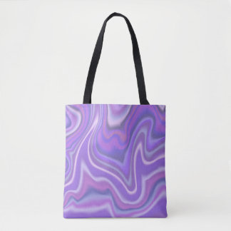 Abstract Lavender Swirl Design Tote Bag